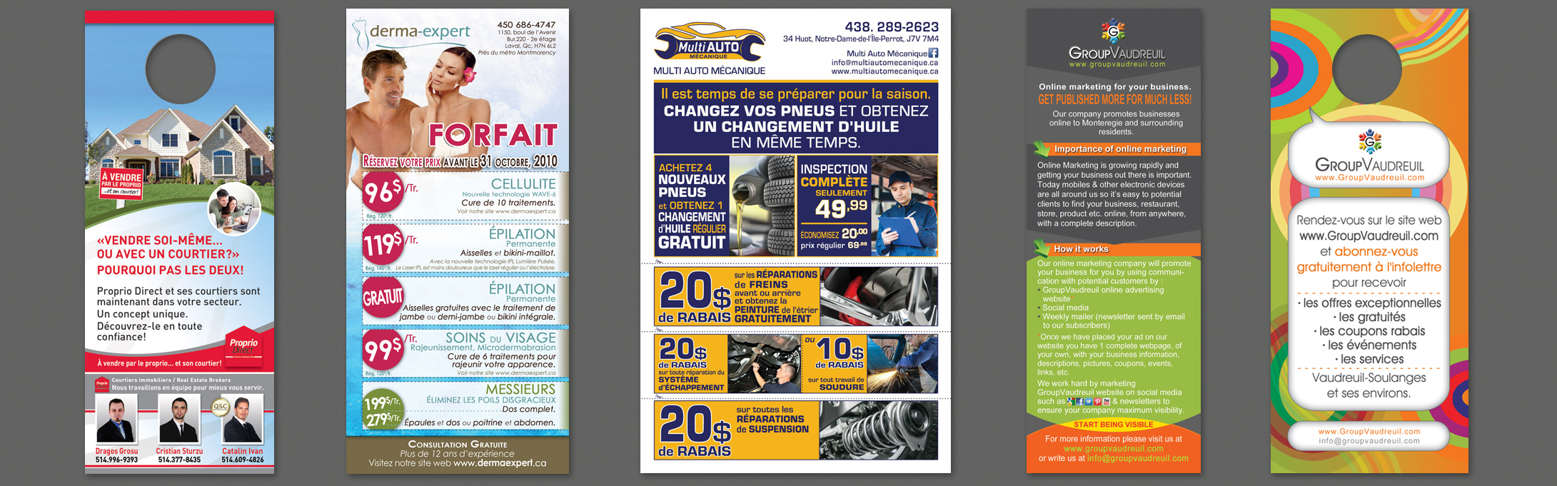 Accroches Porte • cartes • promotions